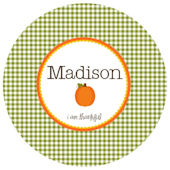 Sweet Madys Gingham Girl Plate