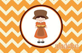 Sweet Madys Pilgrim Girl Placemat