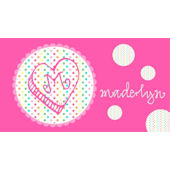 Sweet Madys Rainbow Heart Placemat