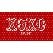Sweet Madys XOXO Red Placemat