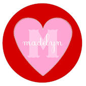 Sweet Madys Candy Hearts Personalized Plate