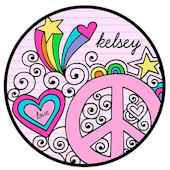 Sweet Madys Peace And Love Personalized Plate