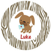 Sweet Madys Puppy Love Personalized Plate