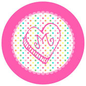 Sweet Madys Rainbow Heart Personalized Plate