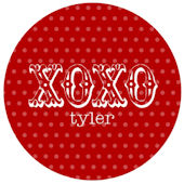 Sweet Madys XOXO Red Personalized Plate