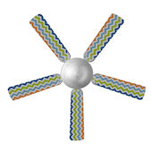 Sweet Pea Chevron Ceiling Fan