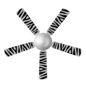 Sweet Pea Zebra Ceiling Fan