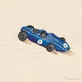 Blue Roadster Car Wall Art