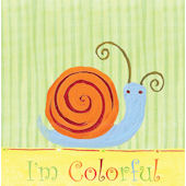 The Little Acorn Colorful Snail Wall Art