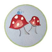 The Little Acorn Mushroom  Rug