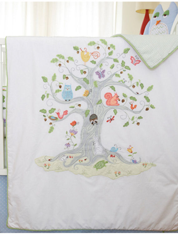 The Little Acorn Wishing Tree  Coverlet