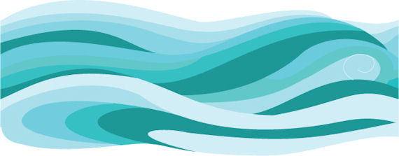 Ocean Waves Traceable Wall Mural Detailed Photos