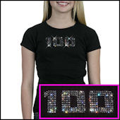Twinkling Tees 100th Day of School  Bling Tee