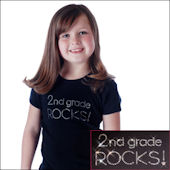 Twinkling Tees Grade Rocks Bling Tee