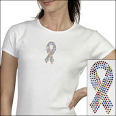 Autism Awareness  Bling Tee