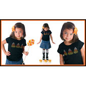 Twinkling Tees Candy Corn  Bling Tee