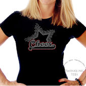 Cheer Star Ladies Rhinestone Tee Shirt
