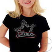 Cheer Star Girls Rhinestone Tee Shirt