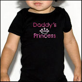 Twinkling Tees Daddys Princess  Bling Tee