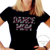 Dance Mom Zebra Ladies Rhinestone Tee Shirt