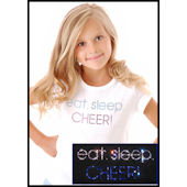 Twinkling Tees Eat Sleep Cheer  Bling Tee