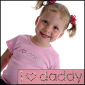 Twinkling TeesI Love Mommy or Daddy  Bling Tee