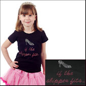Twinkling Tees If The Slipper Fits  Bling Tee