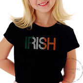 Irish Colors Girls Rhinestone Tee Shirt