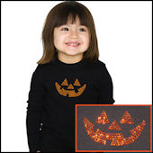 Twinkling Tees Jack O Latern  Bling Tee