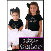 Twinkling Tees Little Sister Fun Style Tee
