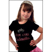 Twinkling Tees Move Over Cinderella  Bling Tee