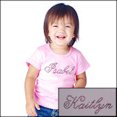 Personalzied Name Tee Elegant Lettering
