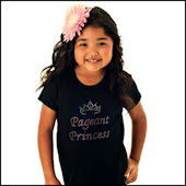 Pageant Princess Girls Rhinestone Tees