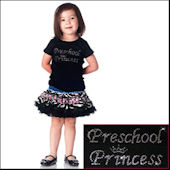 Twinkling TeesPreschool Princess  Bling Tee