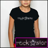 Twinkling Tees Rock Star  Bling Tee