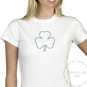 Shamrock Ladies Rhinestone Tee Shirt