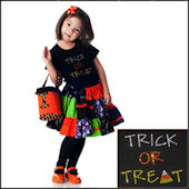 Twinkling Tees Trick or Treat  Bling Tee
