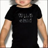 Twinkling Tees Wild Child  Bling Tee