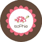 Pink Turtle Personalized Dinnerware