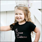 Crown Collector Pageant Girls Rhinestone Tee Shirt