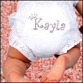 Personalized Rhinestone  Diaper Cover