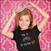 In It To Win It Pageant Girls Rhinestone Tees