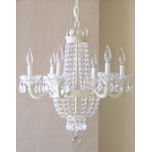 Ornate 6 Arm Crystal Empire Chandelier