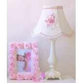 Dreamy Ornate Rose Bouquet Table Lamp