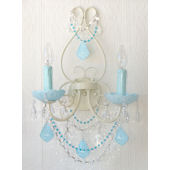 Wall Sconce with Opal Aqua Blue Crystals