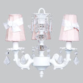 3 Arm Pink Stack Glass  Chandelier Pink Shade