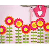Wall Candy Arts Happy Flowers Sticker Kit