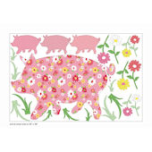 Wall Pops Zoo Wallogy Scarlett Pig Wall Sticker