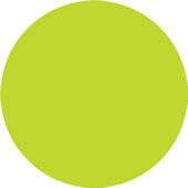 Wall Pops Stylin Green Set of  5 Dots
