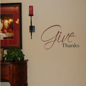 Give Thanks Vinyl Wall Sticker